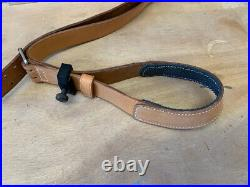 Leather single point rifle sling