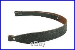 Levys Leathers SN20T03-BLK Trophy SeriesBlack Veg-Tan Leather Rifle Sling