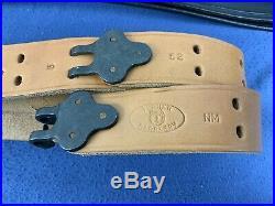 Lot Of Six (6) Leather Marksman Rifle Slings/Straps/Belts