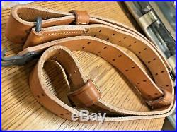 M1907 National Match Leather Rifle Sling (Turner Saddlery) Tan 50