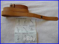 Marlin Factory Original Leather Sling withHorse & Rider, NOS