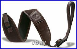 Mauser M03/M12 Deluxe Rifle Sling brown neoprene with leather borders
