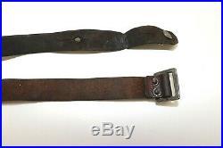 Mosin Nagant brown leather rifle sling Arsenal Crest & SA T 52L x 15/16w E8278