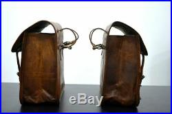 Motorcycle Pouch Genuine Leather 1 Pair Side Pouch Saddlebags Saddle Panniers