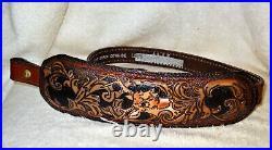 NOS Vintage Buck Scene Rifle/Shotgun Gun Sling Padded Top Grain #1019