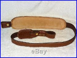 NOS Vintage Ellbro Buffalo Leather Rifle/Shotgun Sling Gun Padded #10931 (9)