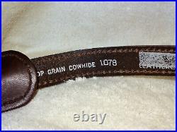 NOS Vintage Wolf Scene Rifle/Shotgun Gun Sling Padded Signed Top Grain #1078
