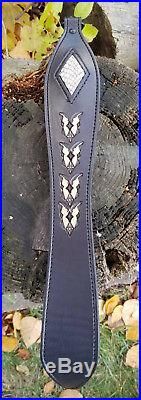 Natural 3-D Diamond Cobra Snakeskin Hand Tooled Winged Pattern- LIMITED SUPPLY