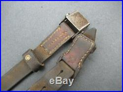 Nice late war 98k WWII German Mauser rifle leather sling for K 98 K98 G43