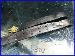 ORIGINAL USGI Military Trapdoor, Krag, or 1903 Springfield Leather Rifle Sling
