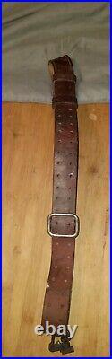 Oariginal WWII U. S. MILSCO 1943 M1 Garand, Springfield M1907 Leather Rifle Sling