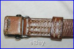 Original German WW2 Mauser K98 Leather Rifle Sling G41 G43 K43 98k wh Proof Mark