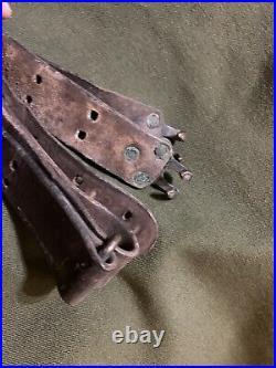 Original M1907 M1 Garand Leather Rifle Sling 1903 Springfield Sling WWII Brass