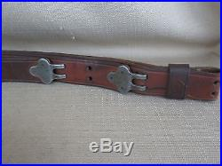 Original M1 Garand Rifle Sling Leather 1903 Springfield Strap WWII / WW2 Vietnam