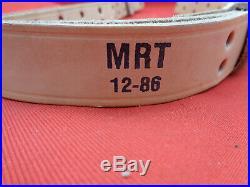 Original USGI M1 Garand MRT December 1986 dated Leather Rifle Sling
