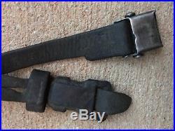 Original WW2 German Leather Sling 98k 33/40 Mauser G43 Rifle. L&F prooved. Orig