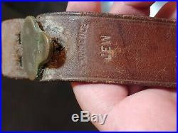 Original WWII U. S. MILSCO 1943 M1 Garand, Springfield M1907 Leather Rifle Sling