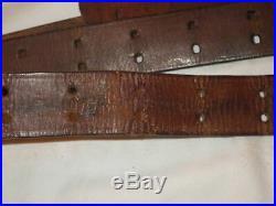 Original WW II US Army Leather Rifle Sling, Garand, Springfield
