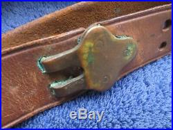 Original Ww1 Us Springfield Rifle Leather Sling Made By Hoyt In 1918
