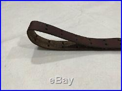 Original Wwi Us M1907 Leather Rifle Sling For 1903 Rifle Marked G&k / 1918 / Hhb