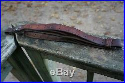 Original Wwii Us 1903 / 03a3 / M1 Garand Leather Rifle Sling Milsco 1944 Nice #2
