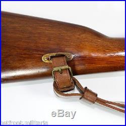 Original genuine leather Mosin-Nagant rifle carrying sling 1948