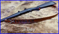 Padded Custom Leather Gun Sling Mule Deer Handmade Rifle Sling Custom Gun Sling