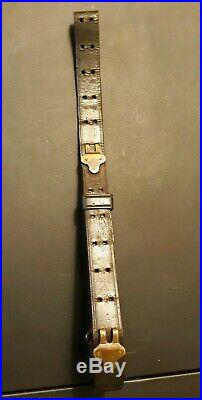 RARE Original WW1 WWI M1907 Leather Rifle Sling Marked Lawrence 1918 M1903 M1917