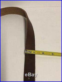 RLO CUSTOM LEATHER RIFLE SLING BELT SLING Made in USA