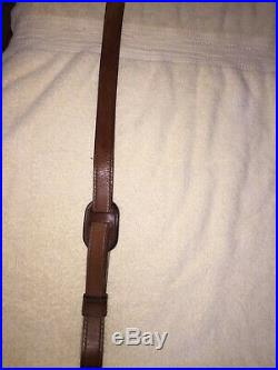 Rare Vintage Weatherby Elephant Head Leather Rifle Sling. Excellent Condition