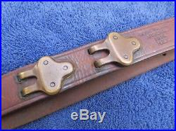 Rare Ww1 Original Us Military Springfield Rifle Leather Sling Made Ria In 1914