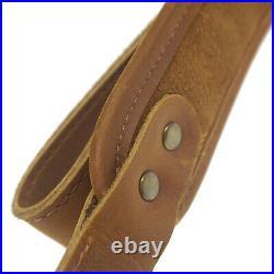 Rifle Sling Buffalo Hide Leather Sling with Swivels, Gun Shoulder Strap UK Stock