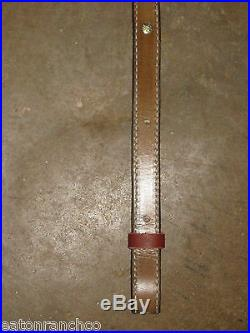 Rifle Sling Leather Basket Hand Tooled Bianchi Lined Padded Deer Skull 430