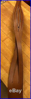 Rifle Sling Unbranded Sturdy Leather Hand Made Never Used UNIQUE BRAIDS MUST SEE
