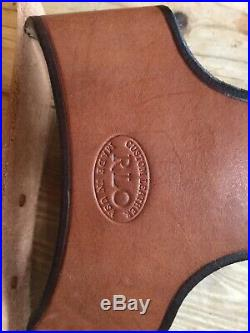 Rlo Custom Leather Rifle Sling Brass Belt Sling USA