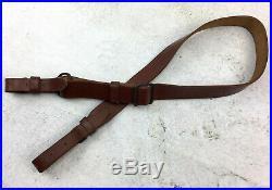 Romanian SKS Sling, All Leather, Original Military Surplus