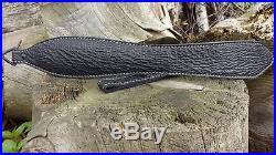 Sharkskin Leather Rifle Sling Black