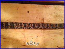 Snake skin Gun sling Eastern Diamondback and leather hand crafted adjustable