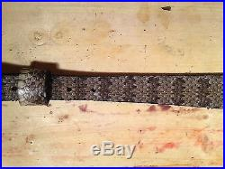 Snake skin Gun sling Montana Prairie Rattler / leather hand crafted adjustable