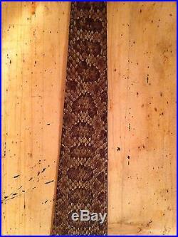 Snake skin Gun sling Prairie Rattlesnake and leather hand crafted adjustable