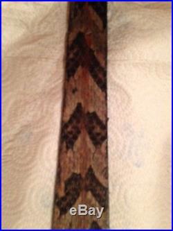 Snake skin Gun sling Timber Rattler and leather hand crafted adjustable