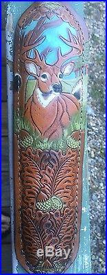 Stalker Hand Tooled Gun Sling, Leather, Vintage, Decorative