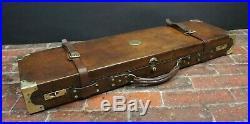 Stunning Oak & Leather Cast Brass Gun by Westley Richards