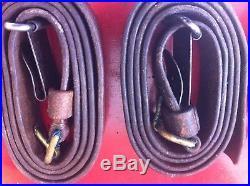 Swedish Mauser Original Leather Slings Lot Of 4