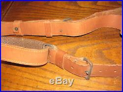 Swedish leather Mauser rifle sling 2 piece CG 63 target 6.5x55 good cg63