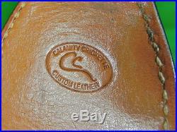 US Custom Made CALAMITY CRICKETTE Carved Leather Rifle Sling Knife Sheath