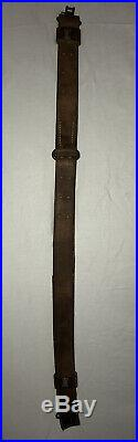 US M1907 Leather Sling Marked M. D. C H&P 1918 Rifle Strap