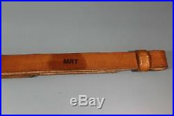 US Post WW2 MRT Marked Brown Leather M1903 Leather Rifle Sling. Nice Cond. S19