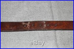 US WW1 RIA 1908 Ordnance C9C Springfield Leather Rifle Sling Strap Belt Help! 3