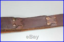 US WW1 WW2 Hunter Brown Leather M1903 Commerci Leather Rifle Sling Parts Lot S24